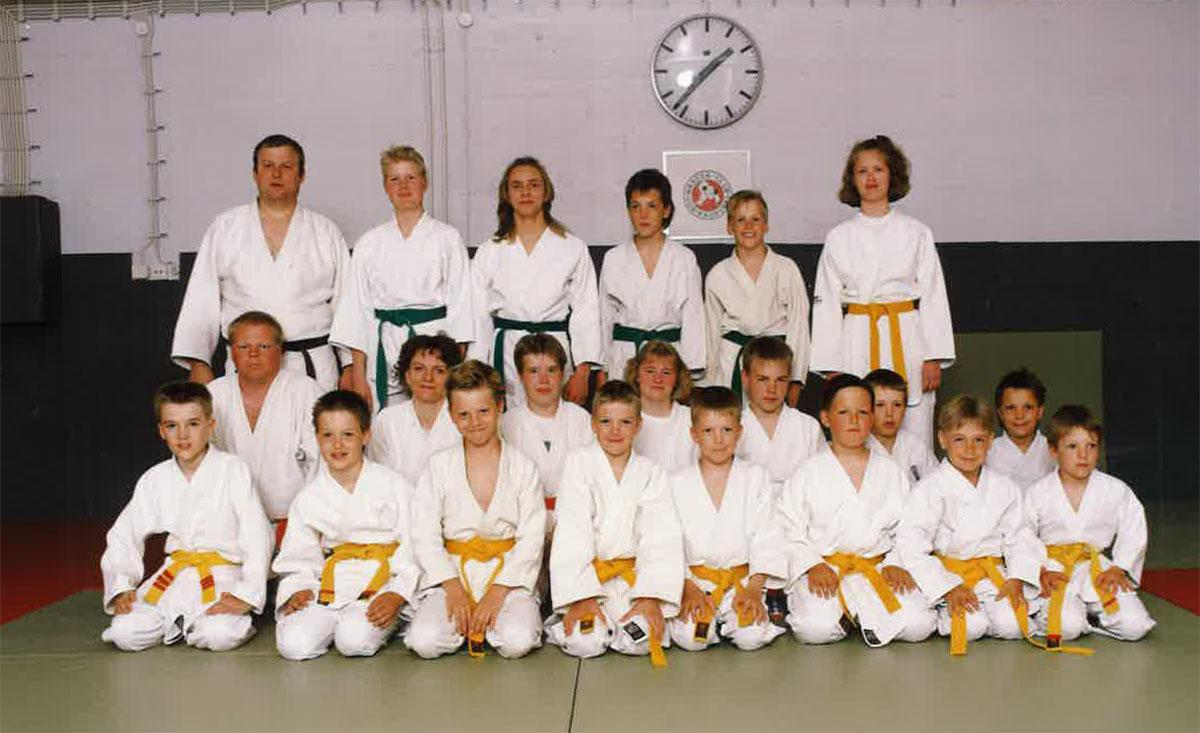 Judokurssi keväältä 1992