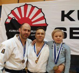Mika Nurmi, Marko ja Milo Hiltunen, Kurikka 7.4.2018, Aprilli Shiai