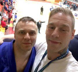 Marko Hiltunen ja Arsi Laaksonen, judon SM 2018