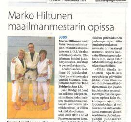 Marko Hiltunen maailmanmestarin opissa