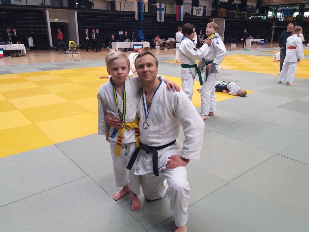 Milo (vasemmalla) ja Marko Hiltunen, Wekara-Shiai, Weteran-Shiai 25.05.2019