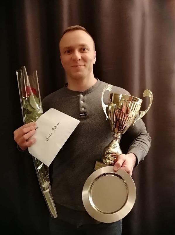 Vuoden 2019 veteraaniurheilija judoka Marko Hiltunen.